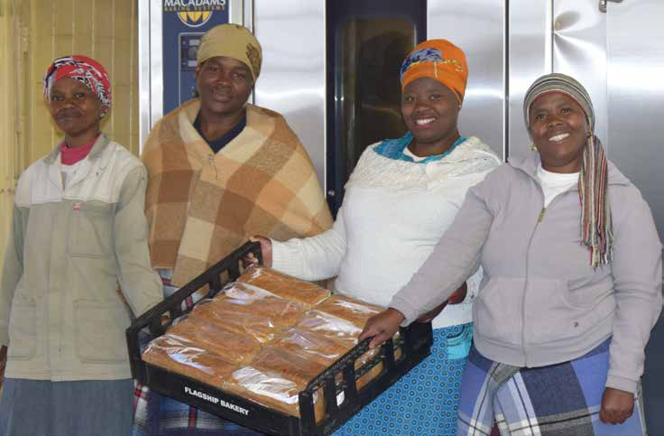 It's smiles all the way for the owners of the Leratong Bakery cooperative which received assistance from the Department of Social Development and the National Development Agency.