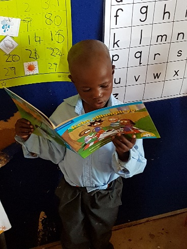 The Bilingual Interactive Differentiated Classrooms programme made books the focus of his learning and showcased six-year old Thobela Bhoyoyo's reading ability.