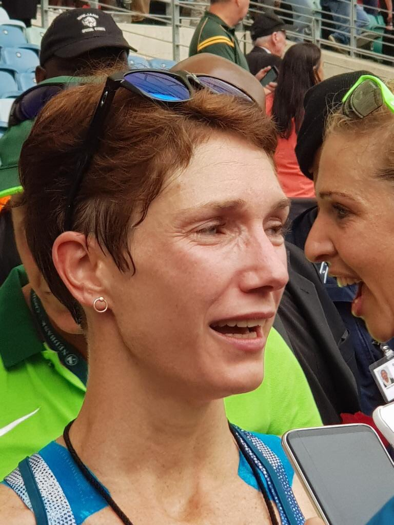 Anne Ashworth a first time Comrades Marathon winner crossed the finish line at a time of 6:10:04 to claim the female title.