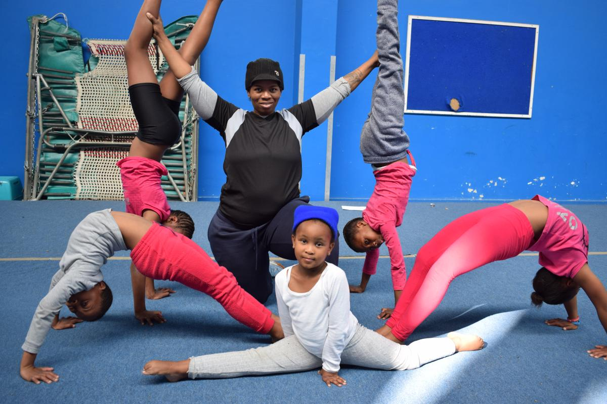 Kediemetse Moloeloe wants to put Thaba Nchu in the Free State on the map through her gymnastics where she is teaching young children and youth about this sport.