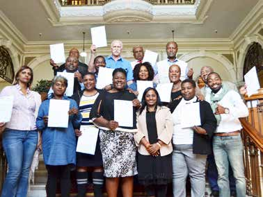 eThekwini municipality councillors who successfully completed a sign language course.