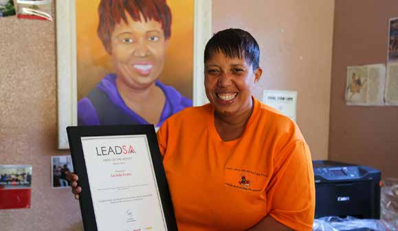 Lucinda Evans putting South Africa on the map in the fight against Gender-Based Violence.