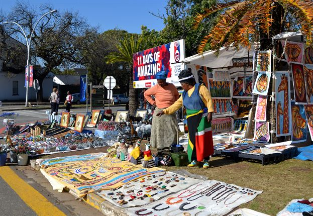 Thousands of people flock to Grahamstown for the National Arts Festival every year.