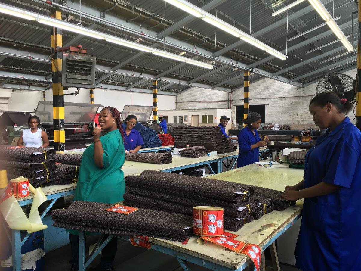 Da Gama Textiles employs just under 700 people in the Eastern Cape.