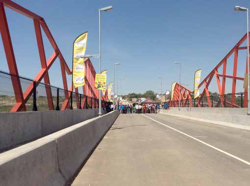 Diepsloot residents are benefiting from the new Ingonyama Bridge that helps them to commute between their home and work places safely.