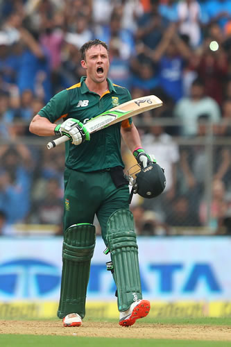 South African cricketer AB de Villiers.