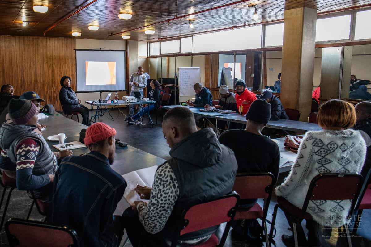 Aspiring artists participate in a workshop held in Mpumalanga last year.