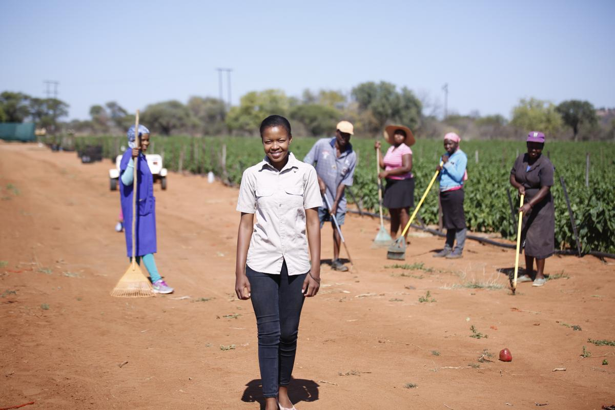 Mahlatse Matlakane's budding green pepper farm in Limpopo has created employment opportunities for people in her area