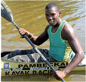 """I want to appeal to parents to allow their children to take part in canoeing."" - Michael Mbanjwa"