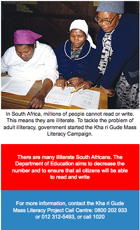 SKILLS DEVELOPMENT LET US LEARN TO READ AND WRITE | Vuk'uzenzele