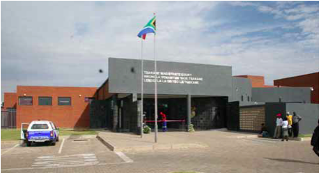 Photo caption: The newly opened Tsakane Magistrate's Court will make the lives of Tsakane residents that much easier as they no longer need to travel to Brakpan for justice services.