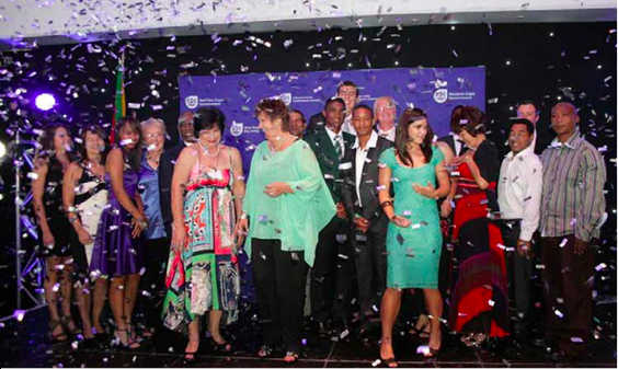 Photo caption: Western Cape's sports stars had their moment of glory recently when they received recognition for their achievements at the province's sports awards.