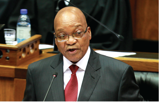 Photo caption: President Jacob Zuma delivers the Station of the Nation Address in Parliament.