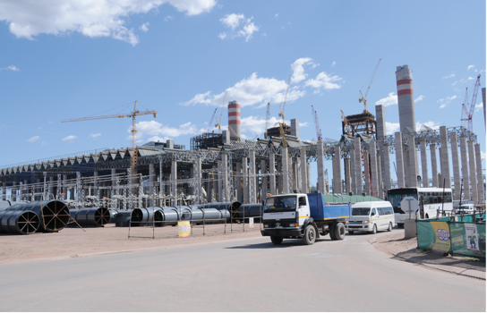 Photo caption: The Medupi Power Station in Limpopo will be the fourth largest coal-powered station in the world.