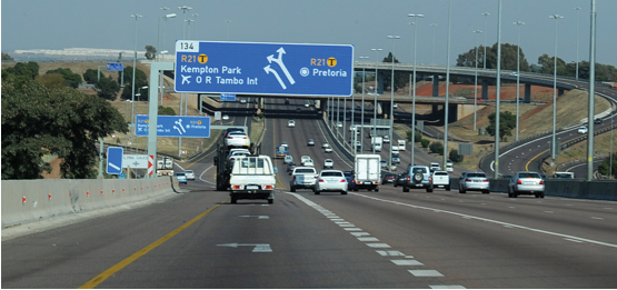 Photo caption: Gauteng motorists will soon enjoy upgraded and wider un-tolled roads.