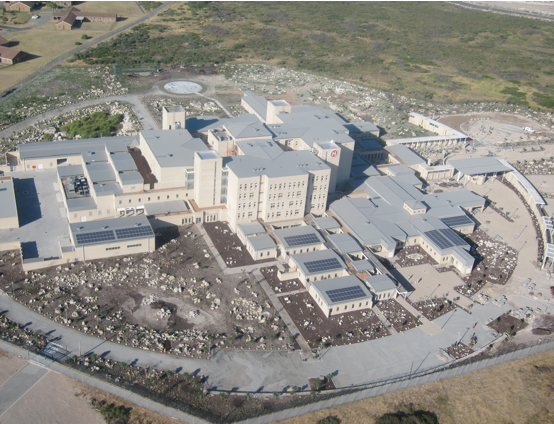 Photo caption: The Mitchell's Plain Hospital in the Western Cape is one of the new hospitals built in the country in the past five years.