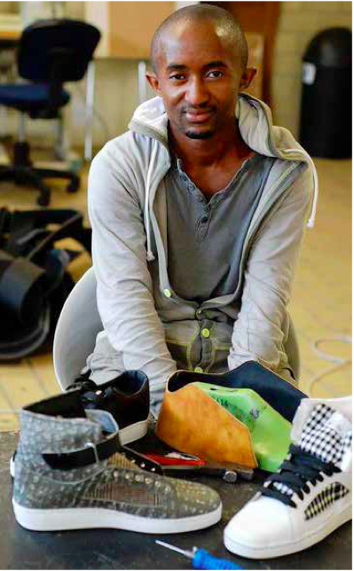 Soweto resident Sifiso Dlamini is the owner of a successful shoe design and manufacturing company.