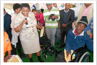 Minister Bathabile Dlamini is working hard to protect the rights of people with disabilities.