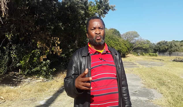 Vuyani Mtiki who attended the Eastern Cape leg of the hearings on the amendment of section 25 of the Constitution.