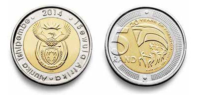 New R5 coin introduced to celebrate 20 Years of Freedom | Vuk'uzenzele