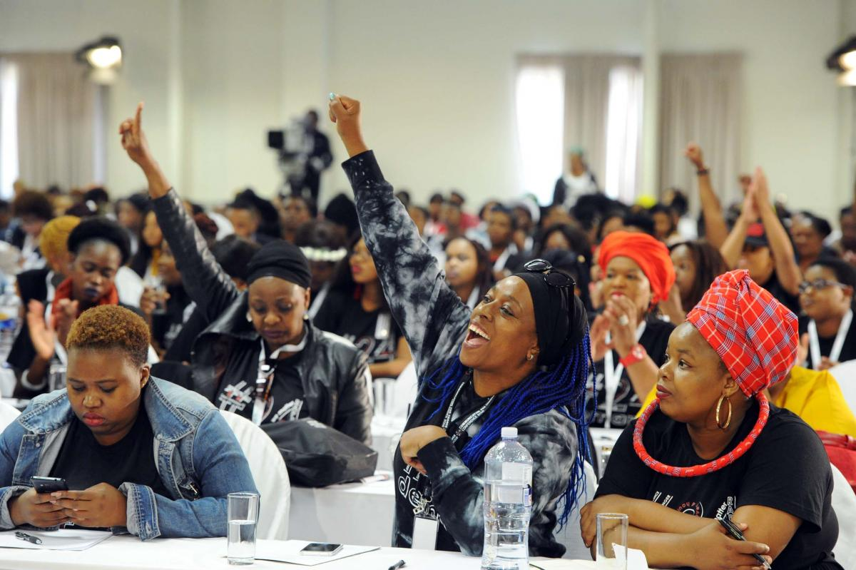 Delegates who attended the first National Gender-Based Violence and Femicide Summit which was held in November 2018.