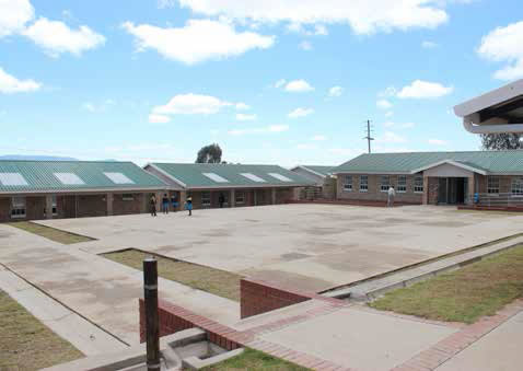The new state-of-the-art Nqantosi Senior Primary School created over 500 new jobs and will ensure quality education for learners.