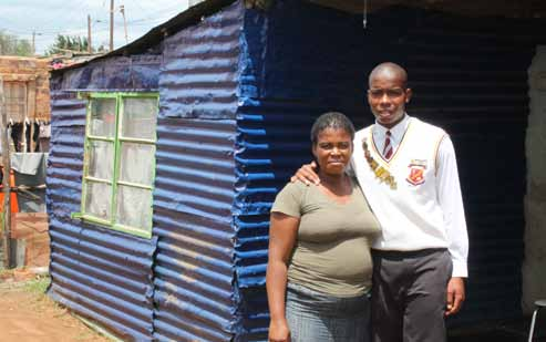 Elizabeth Shabangu is a proud mother after her son Eric Moloko achieved eight distinctions