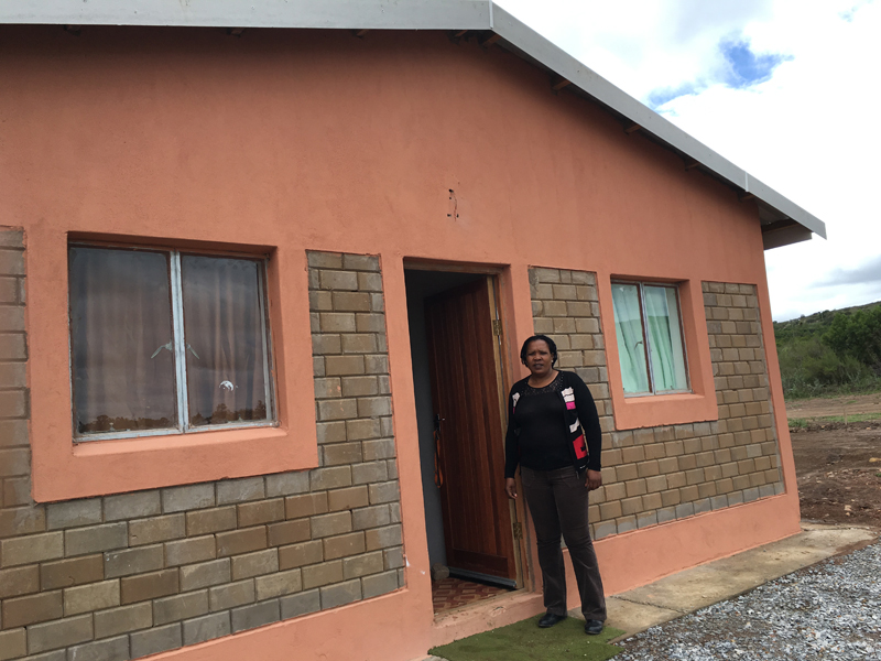 Radway Green Farm dwellers are living their dream thanks to the Department of Rural Development and Land Reform. Bonelwa Mbambatho (right) is enjoying her new home.