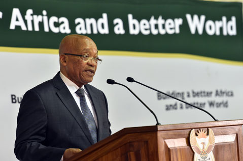 President Jacob Zuma says Africa will continue to lend a helping hand to other African countries.