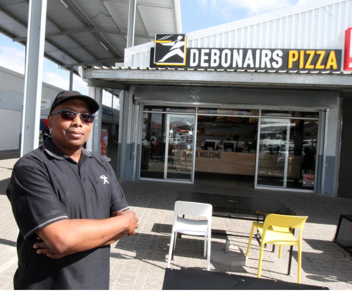 Franchisee Sicelo Mntonga has built his company with the assistance of the Eastern Cape Development Corporation.