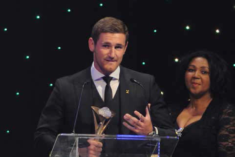 Swimming sensation Cameron van der Burgh won the award for Sportsman of the Year.