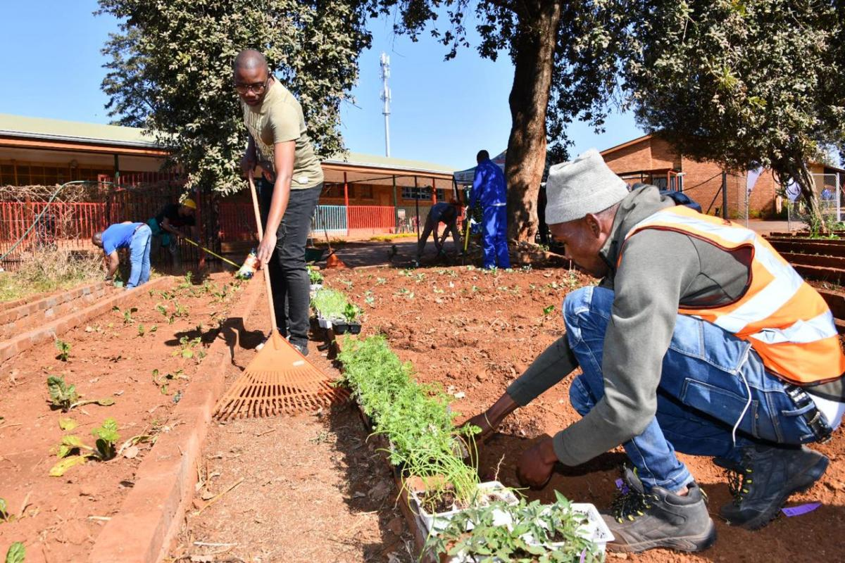 Government Communication and Information System (GCIS) employees took part in the Mandela Day activities at Zodwa Special School in Atteridgeville