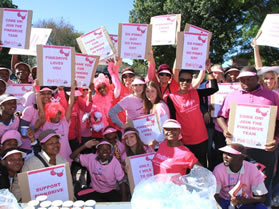 The Pink volunteeers – a group of woman who help the Pink Drive to spread awareness of breast cancer.