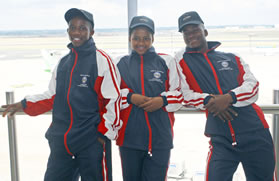 Refiloe Jane, centre, winner ofthe Gauteng2009 Future Playerssoccer identificationprogramme, hasbeen selected to the Banyana Banyana squad that will participate at this year's 2012 London Olympic Games.