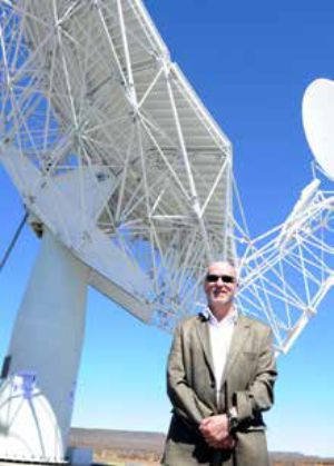 Minister of Science and Technology Derek Hanekom at the Square Kilometre Array site in the Northern Cape.