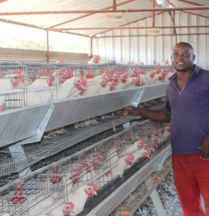 David Mphuti is a successful chicken farmer thanks to National Empowerment Fund.