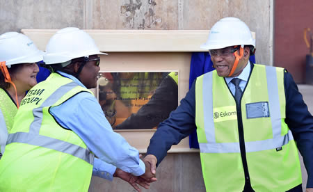 President Jacob Zuma during the opening of Medupi Power Station.