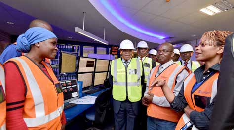 President Jacob Zuma during a tour at Medupi Power Station.
