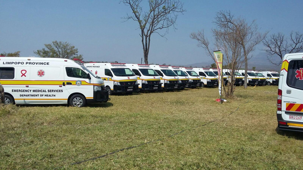The arrival of the new fleet will ease the burden of the shortage of Emergency Medical Services vehicles in the Limpopo province.