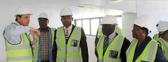 Deputy Minister of Higher Education and Training Mduduzi Manana recently visited the University of Mpumalanga in Mbombela to assess the construction of the new buildings.