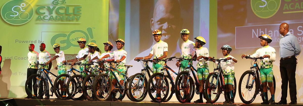 Aspiring cyclists from eNanda have been given a chance to improve their skills.