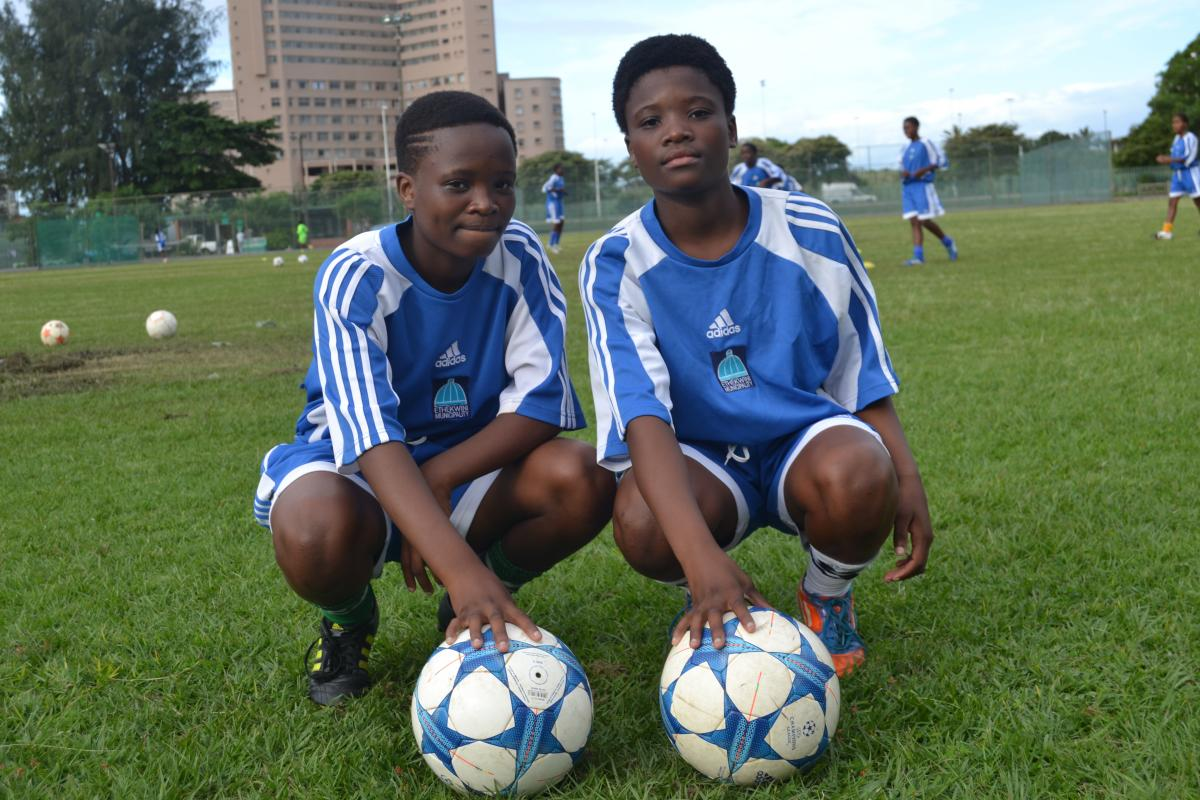 The Shamase twins Sphumelele and Thubelishe are part of a team that will represent eThekwini in the one Nations Cup in Germany.