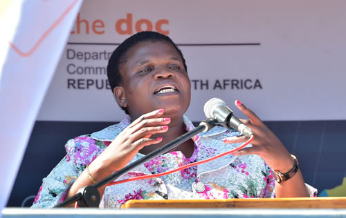 Communications Minister Faith Muthambi recently represented the country at an IT Forum in Russia.