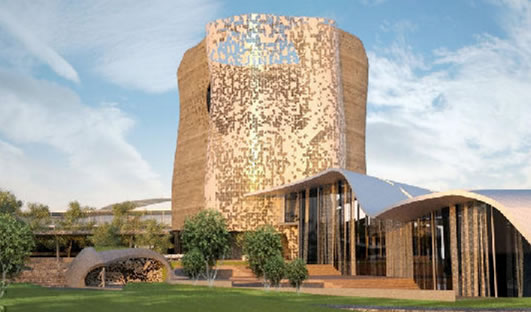 An artist impression of the uMkhumbane Cultural and Heritage Museum in Cato Manor, KwaZulu-Natal.