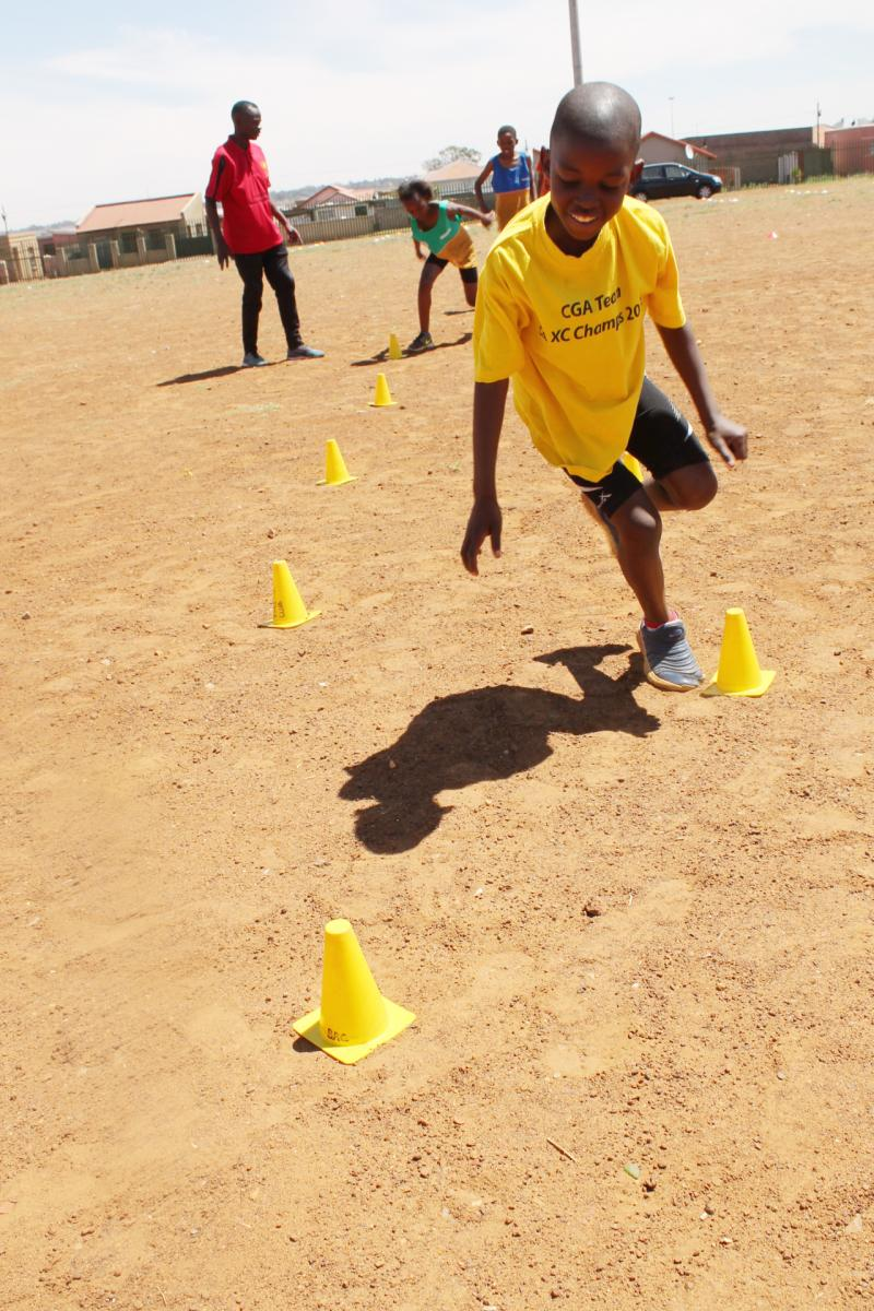 Athletics is changing the lives of young people in Johannesburg.
