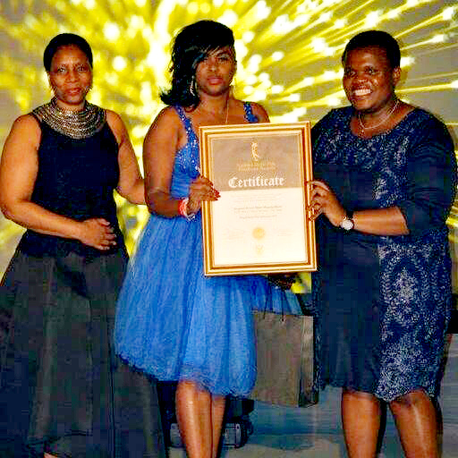 Mpho Mgogodla (centre) is serious about fighting crime she is seen here with Commnications Minister Faith Muhambi (right) and Public Service and Administration Deputy Minister Ayanda Dlodlo.