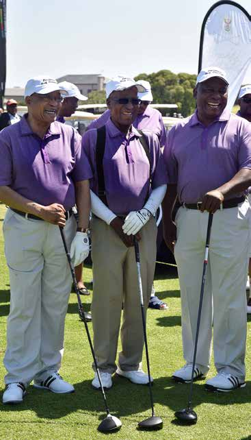 A day after the State of the Nation Address, President Zuma took time to unwind and network on the golf course.
