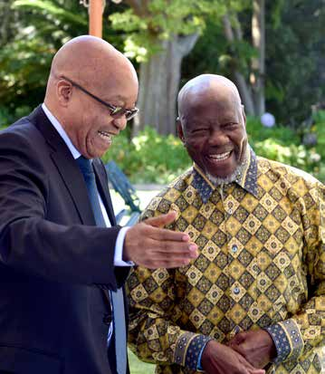 President Jacob Zuma seen here with one of his special guests at the high tea in Cape Town.