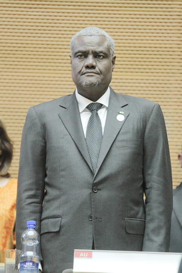 Incoming chairperson of the African Union Commission Chad's Moussa Faki Mahamat.