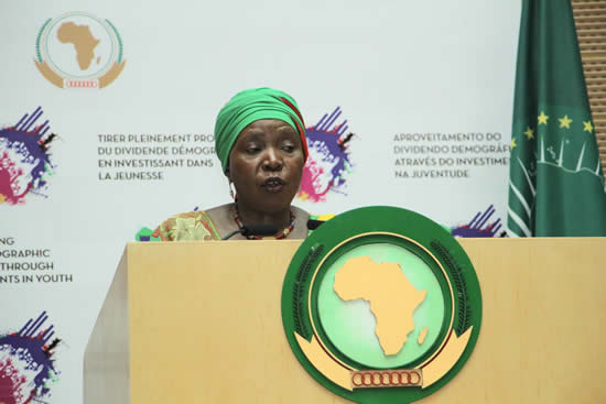 The outgoing Chairperson of the African Union (AU) Commission, Dr. Nkosazana Dlamini Zuma, the first ever woman to head the continental organisation.